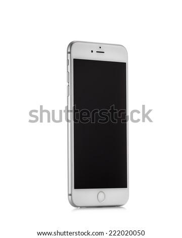 MOSCOW, RUSSIA - OCTOBER 4, 2014: New iPhone 6 Plus is a smartphone developed by Apple Inc. Apple releases the new iPhone 6 and iPhone 6 Plus - stock photo