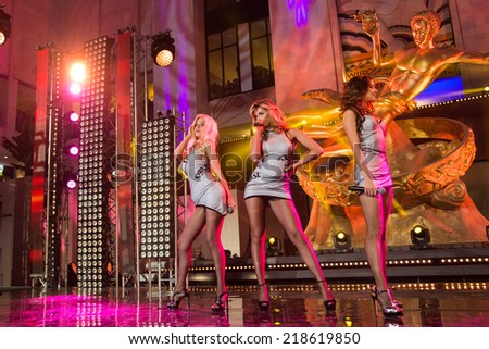 MOSCOW, RUSSIA, September, 20: Music band VIA Gra. Opening Ceremony Vegas  Shopping Mall, September, 20, 2014 at Vegas  Center in Moscow, Russia - stock photo
