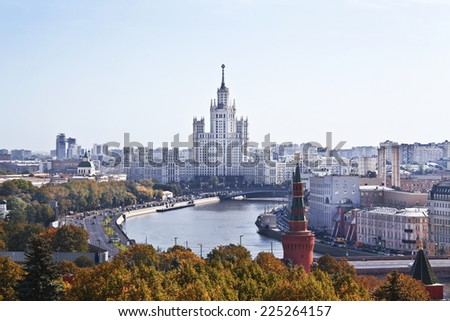 MOSCOW, RUSSIA - SEPTEMBER 14: View of Moscow from the Moscow Kremlin on September 14, 2012