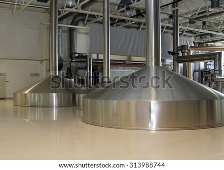 Moscow, Russian Federation -?? March 07, 2015: Brewing production - mash vats. Moscow Brewing Company.