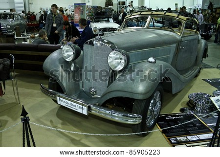 MOSCOW - SEPTEMBER 16: at the international exhibition of the technical antiques on September 16, 2011 in Moscow, Russia - stock photo