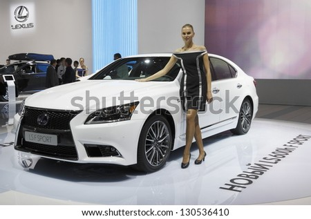 MOSCOW-SEPTEMBER 3: LEXUS LSF SPORT  at the Moscow International Motor Show in September 3.2012 in Moscow