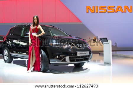 MOSCOW-SEPTEMBER 6: Nissan Murano  at the Moscow International Automobile Salon on September 6,2012 in Moscow