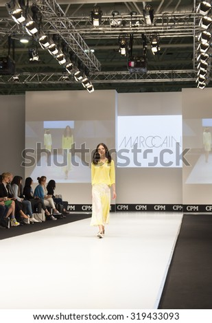 MOSCOW-SEPTEMBER 2, 2015: Showing women's clothing of the German company MARCCAIN at the International Trade Fair GPM