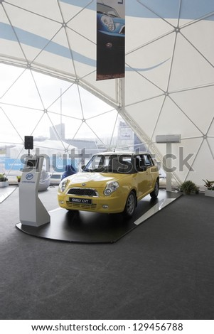 MOSCOW-SEPTEMBER 3:The European premiere Smily CVT at the International Automobile Salon on September 3,2012 in Moscow
