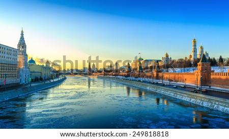 Moscow, winter, Kremlin - stock photo