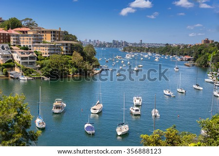 Mosman Bay on the north shore of Sydney