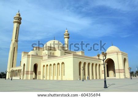 Mosque Al-Fateh bigest in Manama city, Bahrein - stock photo