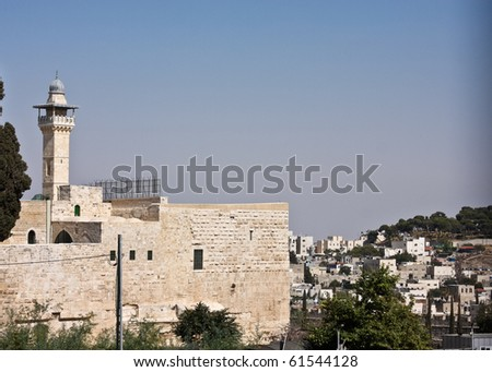 Mosque and Mount of Olives