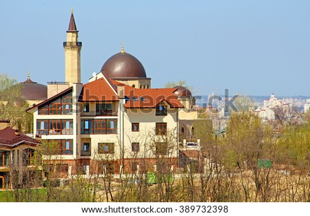 Mosque Ar-Rahma (Arabic - charity) - the first mosque in Kyiv, Ukraine. Is part of the Islamic complex, which in addition to Ar-Rahma mosque includes madrasah and minaret.