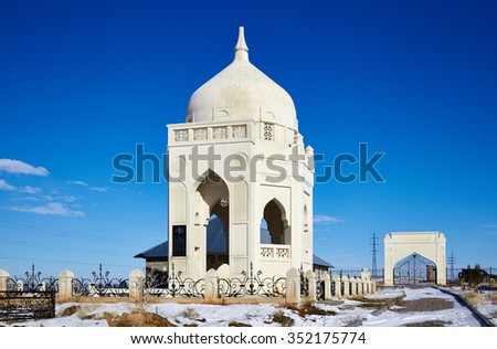 mosque from a white stone