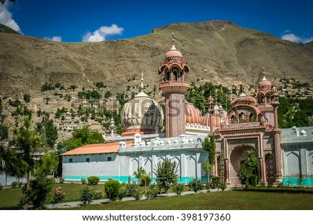 Mosque in Chitral â?? small Pakistani town in the northern part of country - stock photo