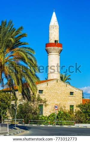 Mosque in old town, Limassol, Cyprus