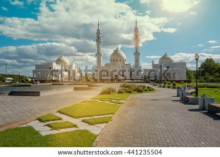 Mosque in provincial Russian town Bolgar. Tatarstan republic. - stock photo