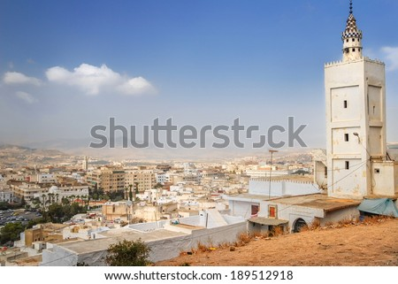 Mosque in Tetouan, a royal town near Tangier, Morocco - stock photo
