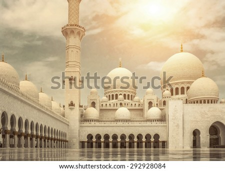 Mosque of Sheikh Zayed in UAE. - stock photo