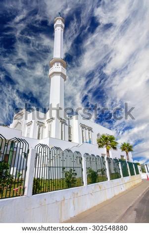 Mosque of Two Holy Custodians, Ibrahim-al-Ibrahim , Gibraltar , Spain - stock photo