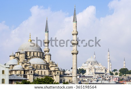 Mosques in Istanbul - stock photo