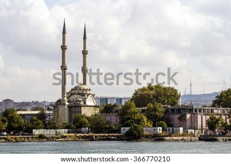 Mosques in Istanbul (Anatolian side) - stock photo