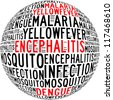 Mosquito infection diseases info text graphics and arrangement - stock photo