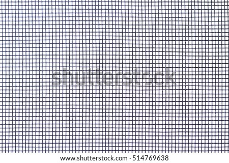 Mosquito net isolated on white background