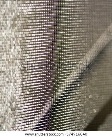 mosquito net macro - stock photo
