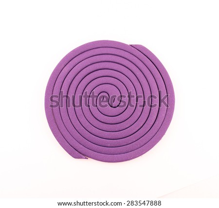 Mosquito repellent coils white background