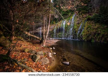Mossbrae Fall in California - stock photo