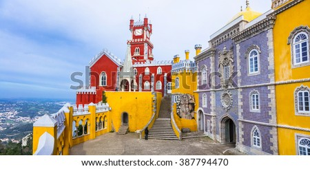 most beautiful castles of Europe - Pena palace in Portugal