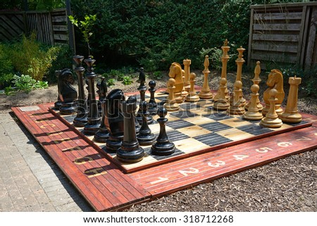 Most chess board in the park - stock photo