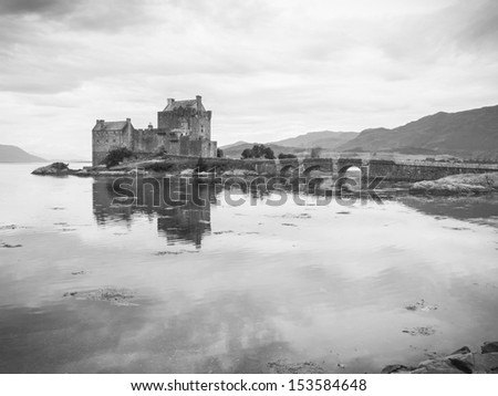 most famous castle in Scotland. The Highlander location - stock photo