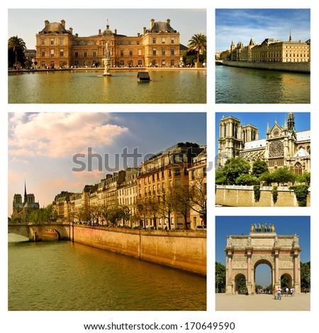 Most famous places in Paris. France - stock photo