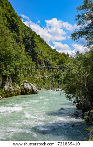 Most well known Slovenian river. River running through mountains (Julian Alps) and a lot of rocks. River loved by everyone who loves wild water.