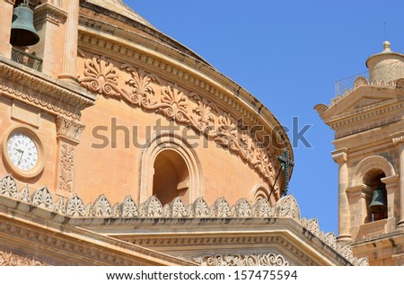 Mosta Church - stock photo