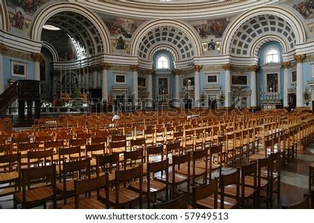 Mosta church - Malta - stock photo
