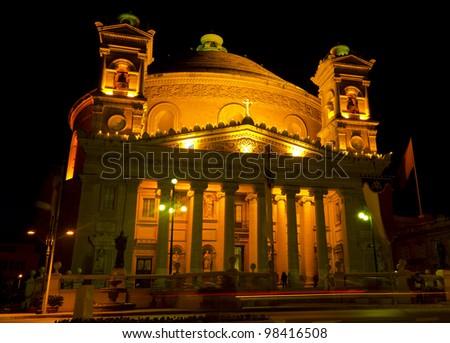 Mosta Dome - Malta - stock photo