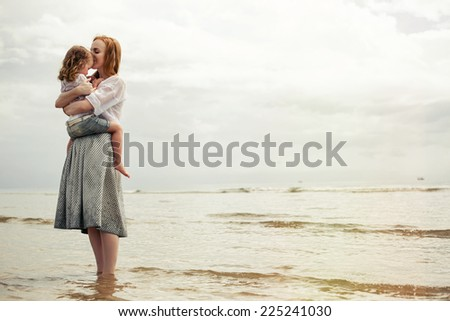Mother and child - stock photo