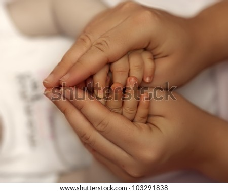 mother and child. Love  between them. - stock photo