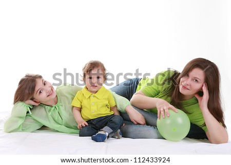 mother and 2 children