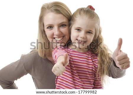 Mother and daughter approval - stock photo