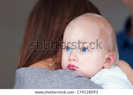 mother and daughter, close up, pregnant woman
