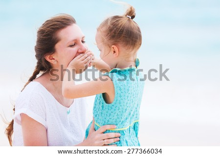 Mother and daughter enjoying time together - stock photo