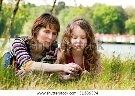 Mother and daughter have a happy time together