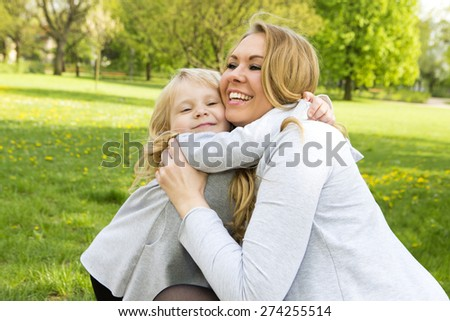 Mother and daughter portrait. Mothers day  - stock photo
