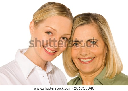 mother and doughter adult young - stock photo