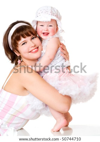 mother and her baby girl