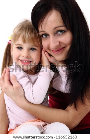 mother and her daughter - stock photo