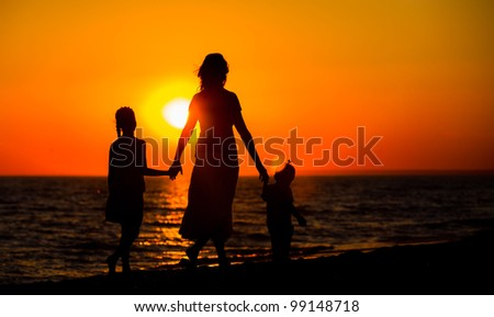 Image result for mother with kids