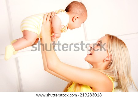 Mother and her Newborn Baby.Maternity concept.