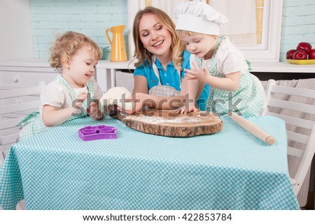 MOTHER AND LITTLE CHILDREN prepared in the kitchen